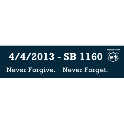 SB 1160 bumper sticker - Design image - Large Thumbnail