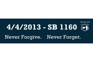 4/4/2013 - SB 1160 - Never Forgive. Never Forget.
