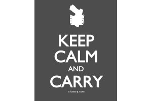 Keep Calm and Carry - Design - Small - Grey