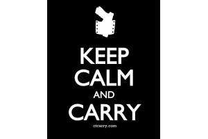 Keep Calm and Carry - Design - Small - Black
