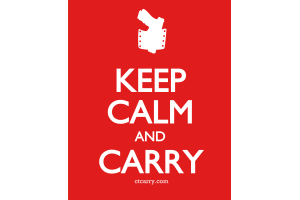 Keep Calm and Carry - Design - Small - Red