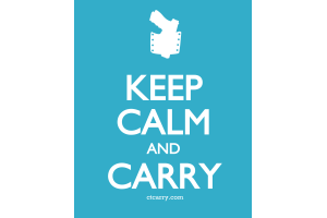 Keep Calm and Carry - Design - Small - Blue